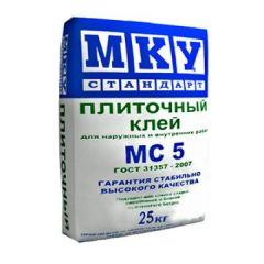 Клей для плитки МКУ Стандарт MC5 25 кг