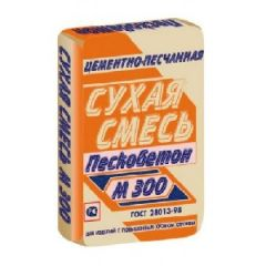 Смесь цементная МКУ Стандарт Пескобетон М-300 Эконом ГОСТ 28013-98 40 кг