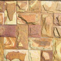 Плитка 102 камня Золото Инков с заколом 20-30 мм заданная длина (м2)