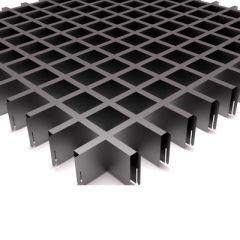 Потолок грильято Fineber Стандарт 50х50х40х10 мм Металлик м2