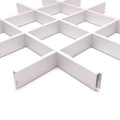 Потолок грильято Fineber Стандарт 150х150х40х10 мм Белый м2