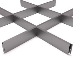 Потолок грильято Fineber Стандарт 200х200х40х10 мм Металлик м2