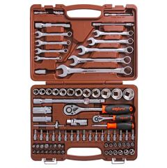 Набор инструментов Ombra торц. головки 1/4, 1/2 дюйма 4-32 мм 82 пред. OMT82S (55014)