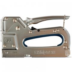 Степлер СибрТех металлический регулируемый тип скобы 53 4-14 мм (40101)