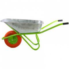 Тачка садово-строительная СибрТех одноколесная объем 90 л грузоподъемность 180 кг (689685)