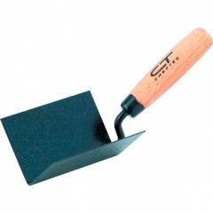Кельма угловая СибрТех 110 x 75 x 75 мм стальная, буковая ручка (86309)