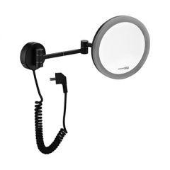 Зеркало с LED-подсветкой, 3-х кратным увеличением Wasserkraft K-1004BLACK 9062554