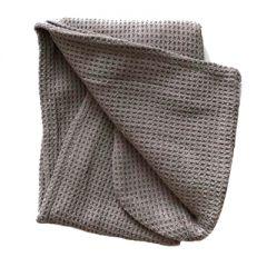 Тюрбан (вафельный) для сушки волос цвет серый 60 х 24 см (11152-4)
