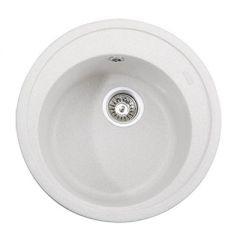 Мойка кухонная круглая Kaiser White (KGM-510-W)