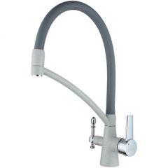Смеситель Paulmark для кухни Holstein под фильтр Серый (Ho213165-310)