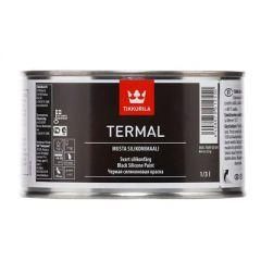 Краска силиконалюминиевая Tikkurila Termal термостойкая черная 1/3 л