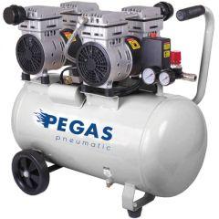 Компрессор Пегас PG-800 воздушный бесшумный безмасляный 25 л (6606)