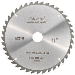 Пильный диск Metabo HW/CT 216X30 40 зуб (628060000)