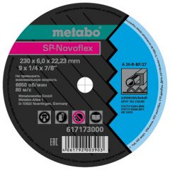 Круг обдирочный сталь SP-Novoflex Metabo 230x6,0x22,23 мм (617173000)