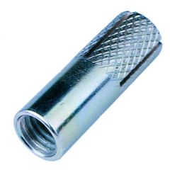 Анкерный забиваемый с насечками белый цинк М6 8х25 мм