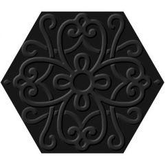 Универсальная плитка Itt Ceramic Flora 23,2x26,7 Hexa Black м2