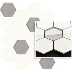Универсальная мозаика Paradyz Prasowana Bianco Hexagon Mix 22х25,5 см 912454 шт