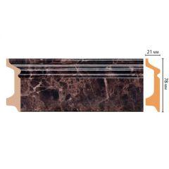 Цветной напольный плинтус Decomaster из полистирола 21 х 78 мм D122-713 (1 шт.)