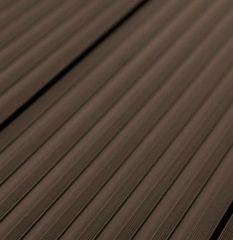 Террасная доска ДПК Savewood SW Quercus Темно-коричневый 163х25 мм (1 м.п.)