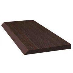 Торцевая рейка ДПК Savewood SW Abies Темно-коричневый 80х9х4000 мм (1 м.п.)