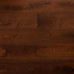 Массивная доска Amber Wood Янтарная Ясень Шоколад браш, лак м2