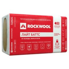 Базальтовая вата Rockwool Лайт Баттс 1000х600х50 мм 10 шт (6 м2)