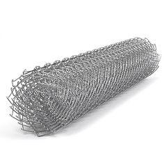 Сетка рабица оцинкованная в рулоне 55х55х2,3 мм 1,5х10 м