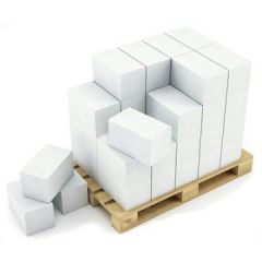 Блок из ячеистого бетона ЭКО газосиликатный D500 600х250х50 мм 1 м3