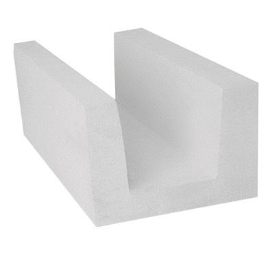 Блок из ячеистого бетона Bonolit газосиликатный D500 U-образный 500x250х375 мм
