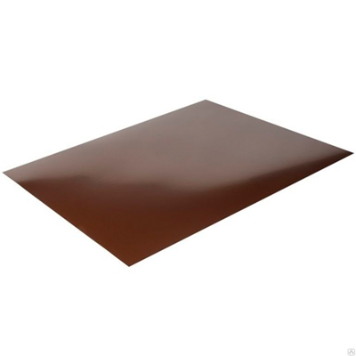 Гладкий лист 2000х1250 мм толщина 0,45 мм коричневый