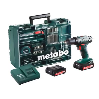 Аккумуляторный винтоверт Metabo BS 14,4 с набором оснастки (602206880)