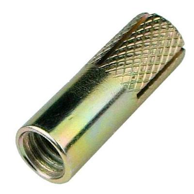 Анкерный забиваемый с насечками желтый цинк М12 16х50 мм