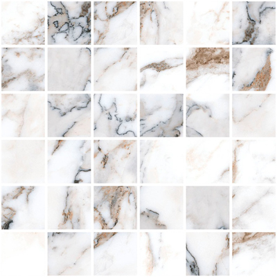 Vitra Marble-X Мозаика Бреча Капрайа Белый Лапп Рект 5x5 K9498798LPR1VTE0 шт