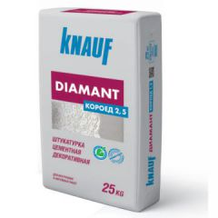 Штукатурка Кнауф Диамант Короед зерно 2,5 мм 25 кг