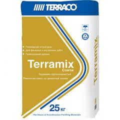 Штукатурка Террако Террамикс Крупнозернистая серая 25 кг