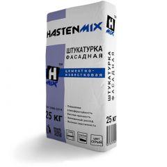 Штукатурка фасадная цементно-известковая Hastenmix серая 25 кг