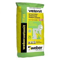 Штукатурка цементная Weber-Vetonit TT40 серый 25 кг