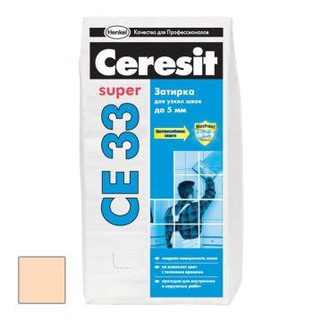 Затирка цементная Ceresit CE 33 Super Персик №28 2 кг