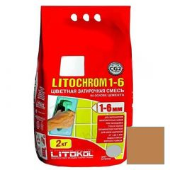 Затирка цементная Litokol Litochrom 1-6 С.210 персик 2 кг