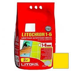 Затирка цементная Litokol Litochrom 1-6 С.640 желтая 2 кг