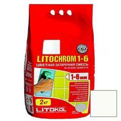 Затирка цементная Litokol Litochrom 1-6 С.00 белая 2 кг