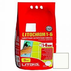 Затирка цементная Litokol Litochrom 1-6 С.00 белая 5 кг