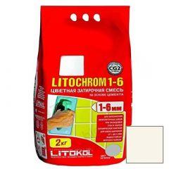 Затирка цементная Litokol Litochrom 1-6 С.50 светло-бежевая 2 кг
