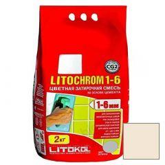 Затирка цементная Litokol Litochrom 1-6 С.130 песочная 2 кг
