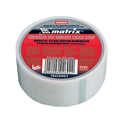 Стеклосетка Matrix самоклеящаяся серпянка 50х20000 мм