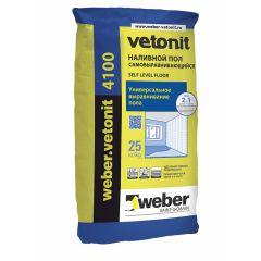 Пол наливной самовыравнивающийся Weber-Vetonit 4100 25 кг