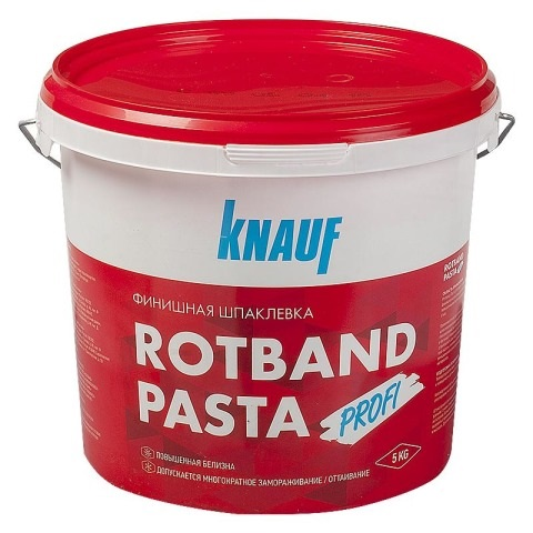 Шпатлевка виниловая Кнауф Ротбанд Паста Профи 18 кг