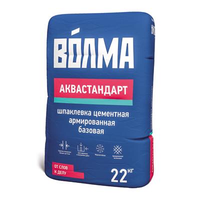 Шпатлевка цементная Волма Аквастандарт серый 22 кг