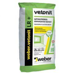Шпатлевка полимерная Weber-Vetonit LR + белый 25 кг
