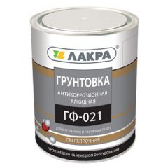 Грунтовка алкидная Лакра ГФ-021 антикоррозионная красно-коричневая 1 кг
